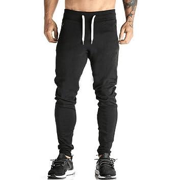 d355f6af8 Pantalones Chándal Hombre, Amlaiworld Pantalones Deportivos Casuales Largos  de Hombres Joggers Pantalon de Correr Running