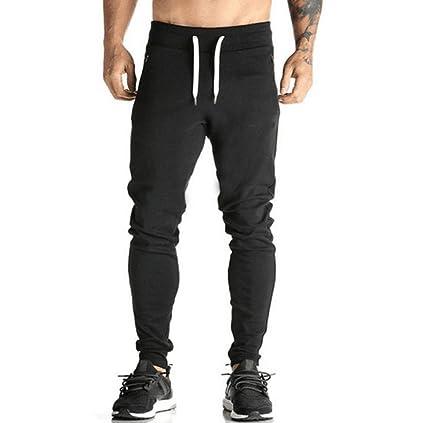 Pantalones Chándal Hombre, Pantalones Deportivos Casuales Largos de Hombres Joggers Pantalon de Correr Running Yoga Leggings termicos Pantalones de ...