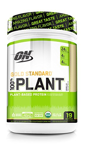 Optimum Nutrition Gold Standard 100% Organic Plant Based Vegan Protein Powder, Vanilla, 19 Servings