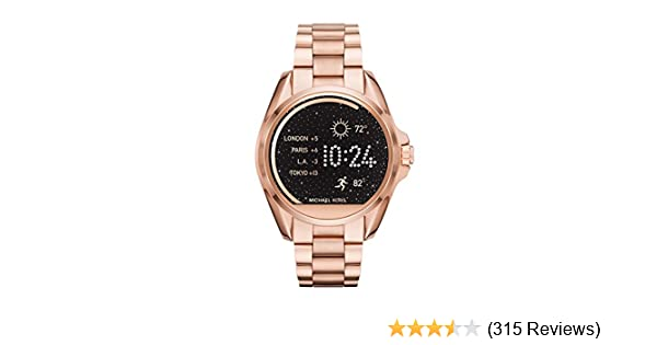 Amazon.com  Michael Kors Access, Women s Smartwatch, Bradshaw Rose  Gold-Tone Stainless Steel, MKT5004  Watches 33757209ac