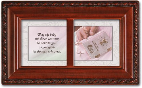 First Holy Communion Cottage Garden Inspirational Woodgrain Petite Music Box Plays Ave Maria (Wood Music Box Petite Grain)