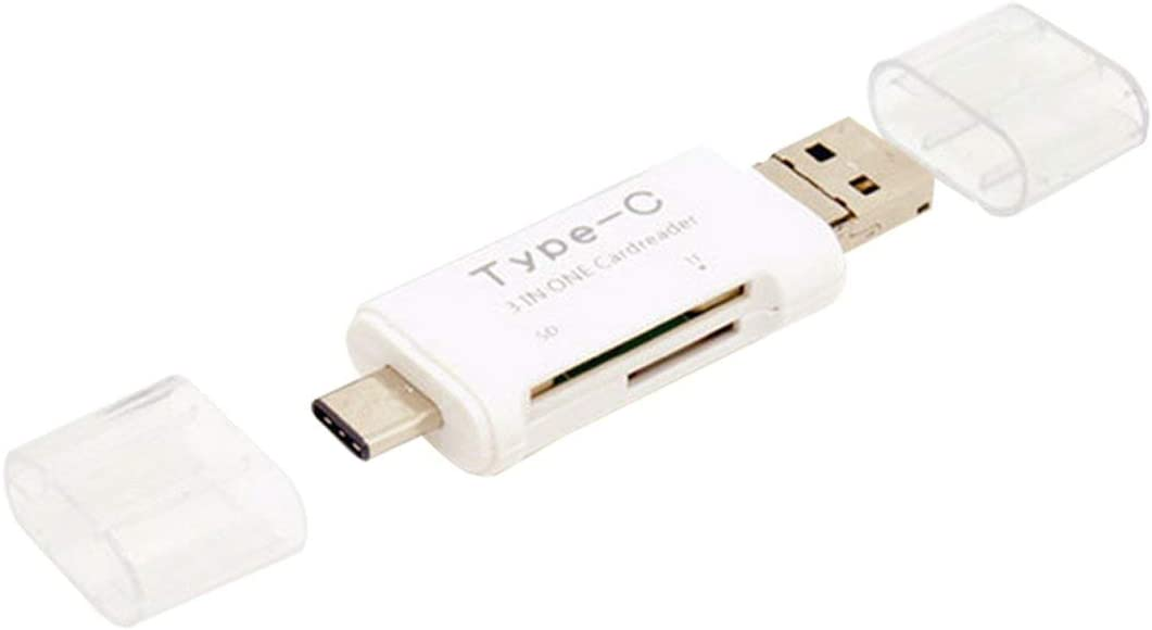 Liobaba OTG Type-C Card Reader USB 3.0 USB A Micro USB Combo to TF SD Card Reader