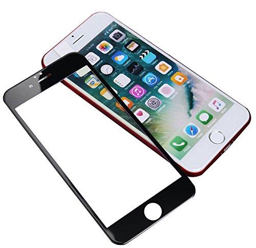 指クックロケットDICE 全面保護 iPhone8 ガラスフィルム 液晶保護フィルム iPhone8対応 保護フィルム 3D Touch 高透過率 硬度9H ドライウェットクロス付き (iPhone 8 4.7インチ, ブラック)