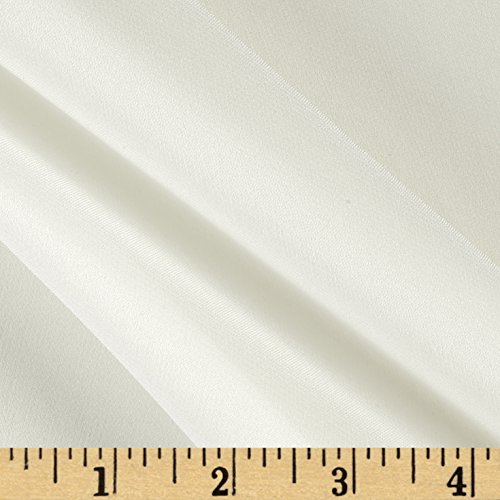 100% Silk Chiffon Ivory Fabric By The Yard