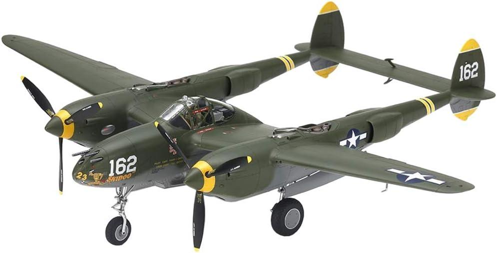 Plastik Bausatz TAMIYA 25199 1:48 US P-38H Lightning Zusammenbauen Basteln originalgetreue Nachbildung Modellbau Hobby Kleben Modellbausatz unlackiert