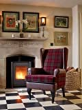 Stirling Tartan High Back Chair Orthopedic Fireside Arm Chair - 20' or 22' Seat Height