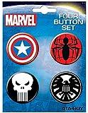 Ata-Boy Marvel Comics Logo Assortment #1 Set of 4 1.25
