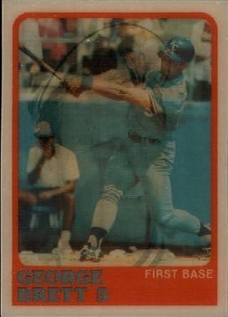 Amazoncom 1988 Sportflics Baseball Card 150 George Brett Mint