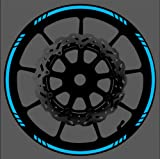 Vehicleartz BLUE Reflective Speed Graduated Wheel Rim Tape Stripe fit Motorcycles, Cars, Trucks
