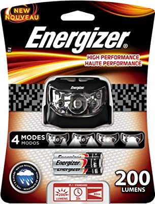 Energizer High Performance LED Headlamp with Batteries Included, Grey/Black
