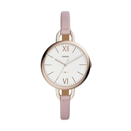 872d7d30d808 Fossil Reloj Analogico para Mujer de Cuarzo con Correa en Cuero ES4356   Amazon.es  Relojes