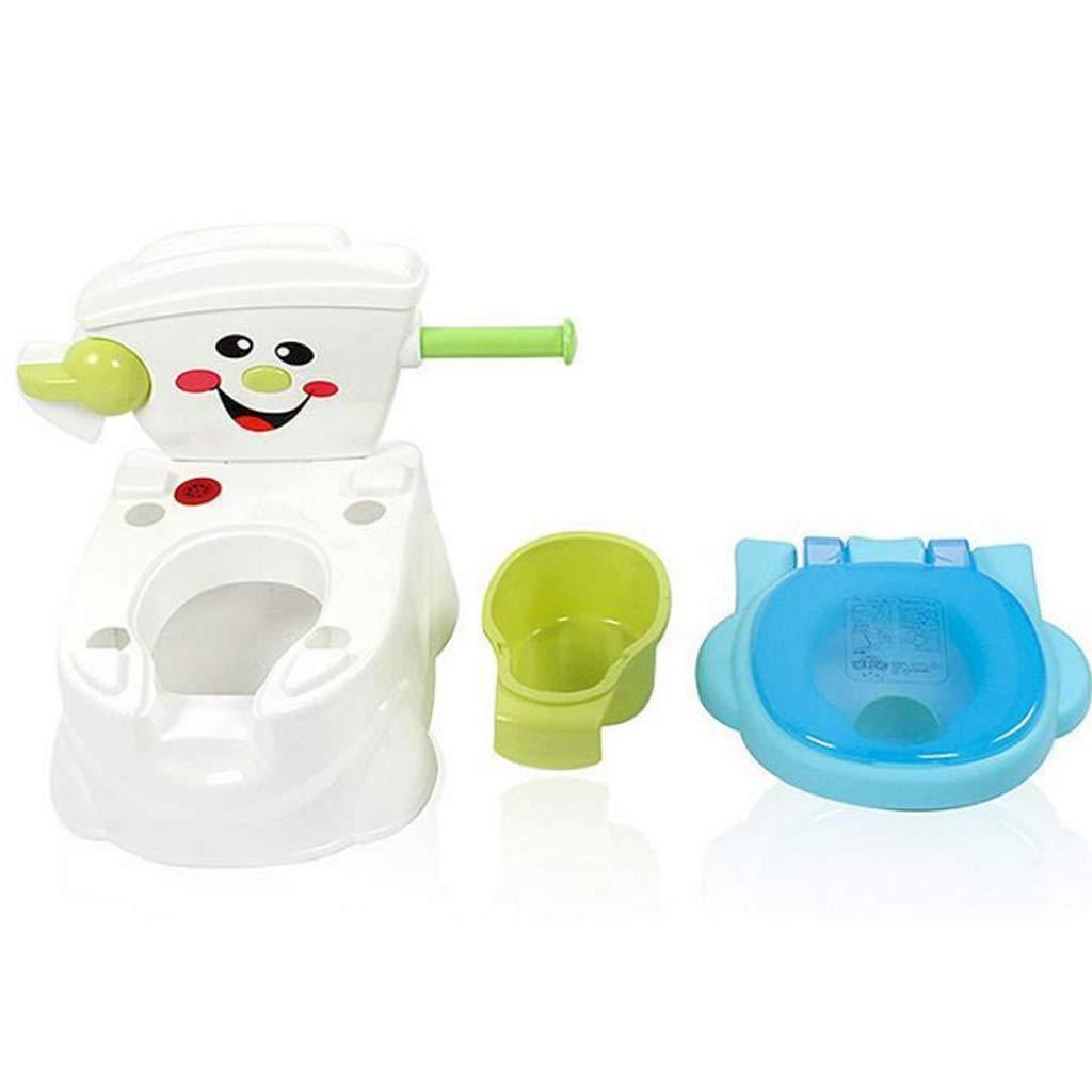 Haodan electronics Asientos Baby Potty Toilet Boys Toddler Seat Boys Girls Orinal Port/átil Funny Kids Potty Training Children Toilet Pink Blue Color : Blue