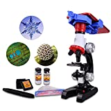 Little World Science Kits for Kids Beginner Microscope with LED 100X 400X and 1200X Magnification Kids Science Toy Educational Toy Birthday Gift - Includes Phone Holder