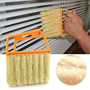 Practical Mini-Blind Cleaner Brush Vertical Window Blinds Brush Cleaner Mini 7 Shape Handheld Magic Blind Cleaning Brush Novelty Household Tool for Shutter