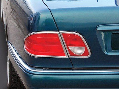 Mercedes w210 (SEDAN) CHROME Taillight Frame Rings E-class tail lamp trim