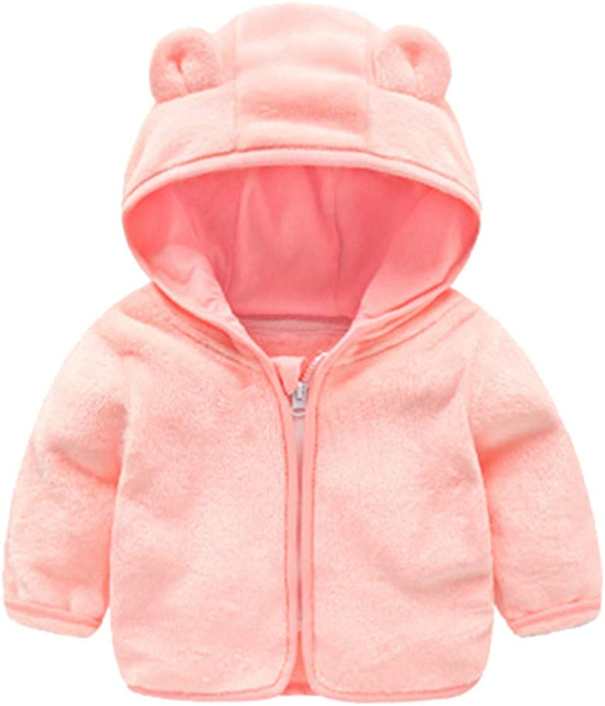 ThePass Baby Boys Girl Winter Cartoon Ear Hooded Pullover Tops Warm Clothes Coat