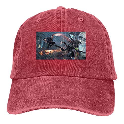 V For Vendetta Hat Type (Kinggo Customized Printing Comfortable Hats Devil May Cry 5 Funny Baseball-Cap)