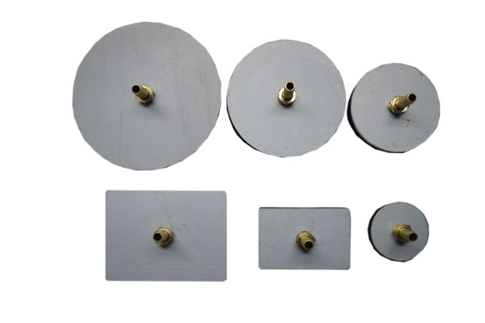 VACUUM TEST PLATES FOR ROBIN AIR VACUUM PUMP 6 PADS WITH BRASS FITTINGS - VALVE