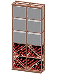 Vinotemp Diamond Case Bin 132 Bottle Wine Rack Kit