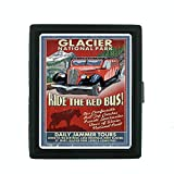 Metal Cigarette Case Vintage Poster D-028 Glacier National Park - Red Jammer Vintage Sign