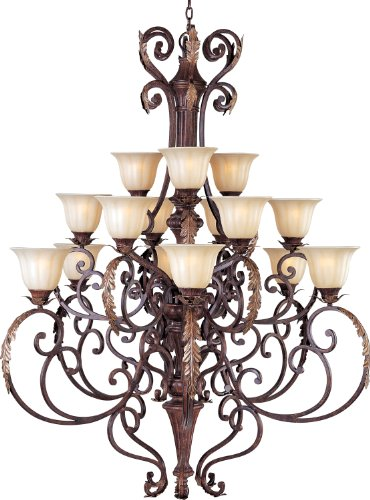 Maxim Lighting 13567CFAF/CRY081 15 Light Augusta Chandelier, ()