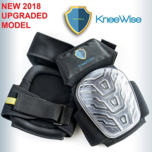 KneeWise Professional Knee Pads Heavy Duty Foam Padding Comfortable Gel Cushion with Upgraded Magnetic Tool Holder and New Adjustable NO SLIP Straps Knee Protection for Work Construction Gardening DIY