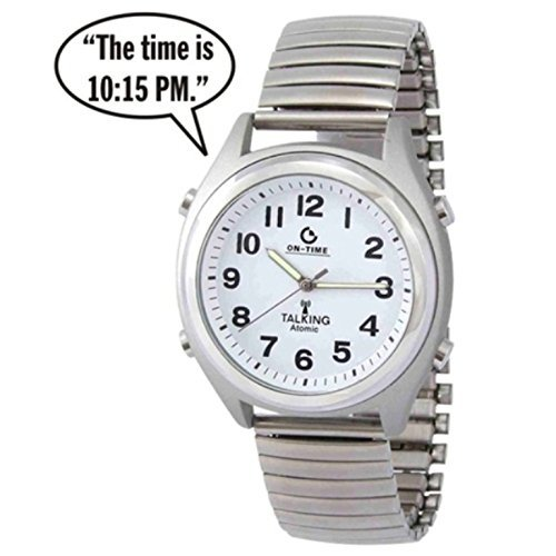 ATOMIC! Talking Wrist Watch w/Alarm Speaks the Time,Day,Date and Year by On Time