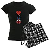 CafePress Spider Man Heart Womens Novelty Cotton Pajama Set, Comfortable PJ Sleepwear