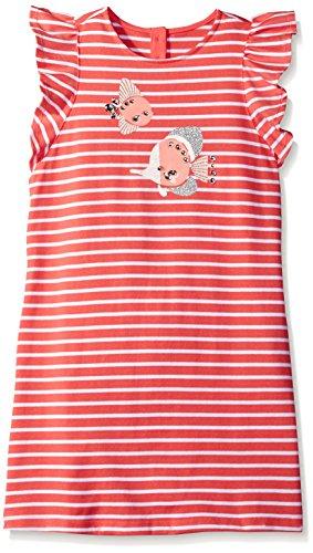 Gymboree Big Girls Short Sleeve Stripe Fish Dress  Aqua Spray  7