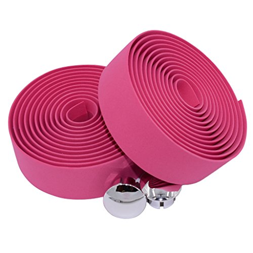 - KINGOU Pink EVA Road Bike Handlebar Tape Cycling Tape Bar Wraps - 2PCS Per Set