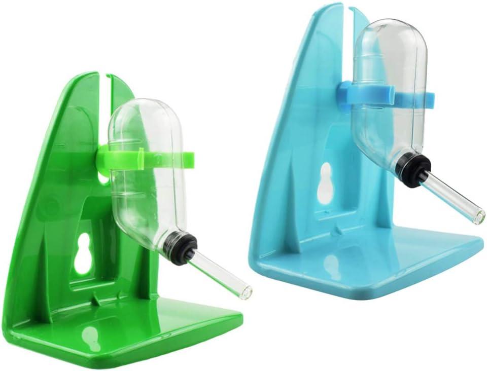 Color Aleatorio POPETPOP 2Pcs Botella de Agua para Animales Peque/ños Colgando Botella de Bebida Autom/ática Dispensador de Alimentaci/ón de Agua para Hamster Conejo Conejillo de Indias 60