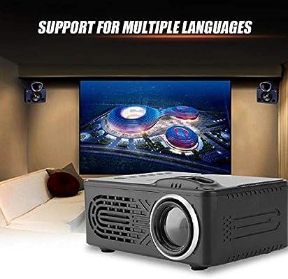 WHLDCD Proyector Mini proyector Digital HD Negro 1080P 100-240V ...