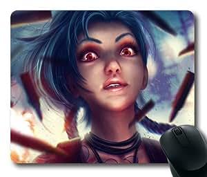 Customizablestyle League of Legends Jinx Bang Bang Galore Mousepad, Customized Rectangle DIY Mouse Pad