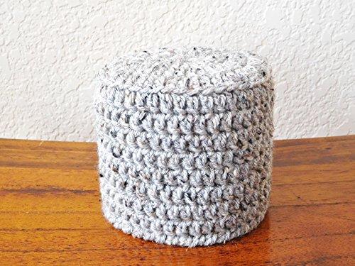 Crochet Toilet Paper Cover - Toilet Paper Cozy - Gray Marble