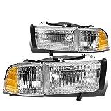 Dodge Ram BR/BE Pair of OEM Replacement Headlight+Corner Light