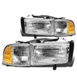 headlights for 1998 dodge - Pair of OE Replacement Headlight + Corner Light for Dodge Ram BR/BE w/o Sport