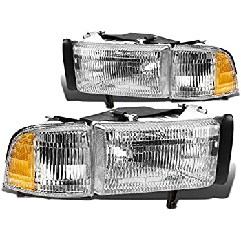 Amazon dodge ram pick up 1500 2500 3500 94 95 02 head light pair of oe replacement headlight corner light for dodge ram brbe w sciox Gallery