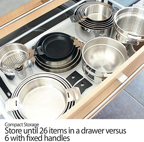 Cristel Strate Removable Handle 4.5 Quart Saute Pan with Lid by Cristel
