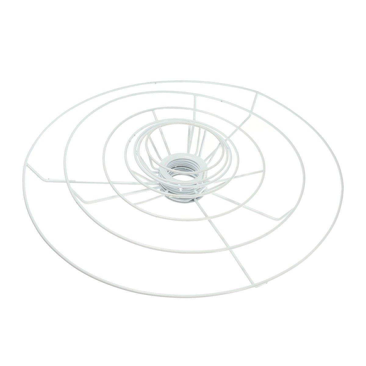 JCHUNL E27 9,5-40 cm Rund Lampenschirmrahmen Ring Set Lampe Licht Schatten DIY Kit Hot (Farbe   11cm)