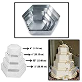 Set of 4 Tier Hexagon Multilayer Birthday Wedding Anniversary Cake Tins/Pans/Mould by Protins
