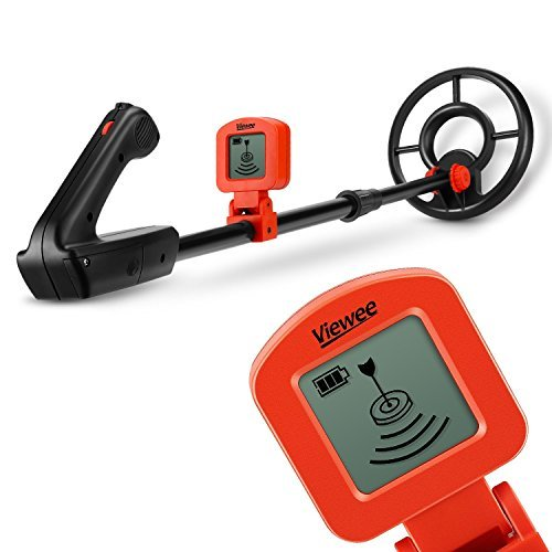 Viewee Lightweight & High Sensitivity Metal Detectors for Kids and Beginners with Waterproof Search Coil, LCD Display & Buzzer to hunt for Coins, Relics, Jewelry, Gold and Silver Easier and Safer.