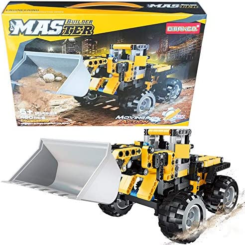 STEM Construction Toys | Bulldozer Building Kit Front Wheel Loader - Top Educational Engineering Toy Set for Boys And Girls ages 6 7 8 9 10-12 year old and up Best Toy Gift for Kids Activity Game