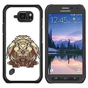 LECELL--Funda protectora / Cubierta / Piel For Samsung Galaxy S6Active Active G890A -- El conejo de Viking --