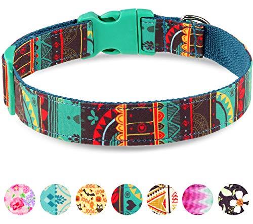 Taglory-Collar-Perro-AjustableEstilo-Unico-Collar-Adiestramiento-para-Perros-Medianos35-50cm-Verde-Oscuro