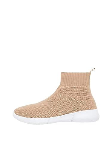 Bianco Damen Knit Hightop Hohe Sneaker: : Schuhe