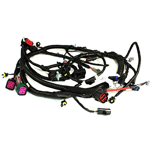 APDTY 139970 Diesel 6.0L Powerstroke Main Engine Wire Harness Pigtail Conector Fits Select 05-07 Ford Trucks (See Description For Details; Replaces 5C3Z12B637BA, 5C3Z-12B637-BA)