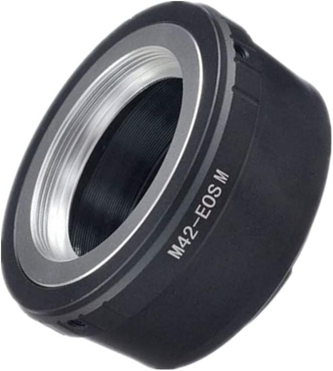 M42 to EOS M Lens Adapter Screw Mount Lens Compatible with Canon EOS M Mount Mirrorless Camera M1 M2 M3 M5 M6 M10 M50 M100 42x1mm M42