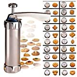 Cookie Press Kit Aluminum Includes 20 Discs & 4 Icing Tips
