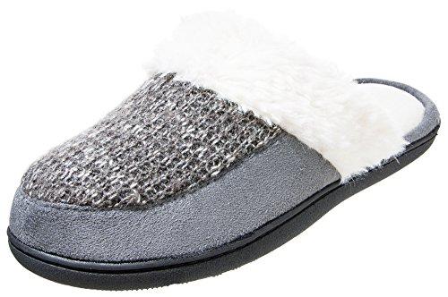 ISOTONER Womens Sweater Knit Darlene Clog Ash