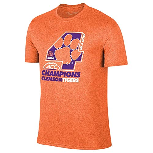 86fc7c573cae Elite Fan Shop Clemson Tigers Acc Champs Tshirt 2018 Locker Room - L -  Orange